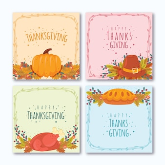 Thanksgiving day instagram posts design
