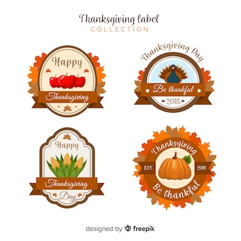 Thanksgiving day label collection