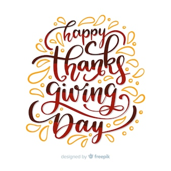 Thanksgiving day lettering design