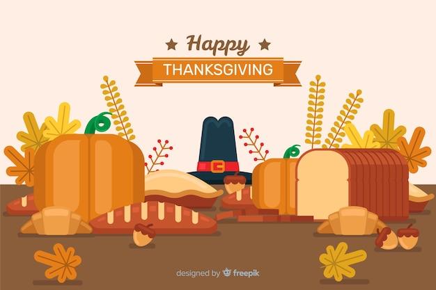Concetto di carta da parati a tema del giorno del ringraziamento