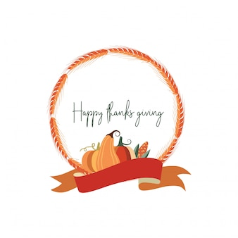 感謝祭の日、小麦のフレーム