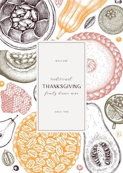 Дизайн меню десертов на день благодарения