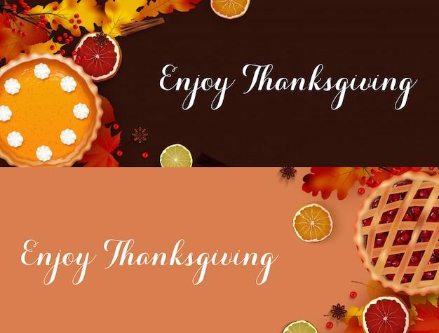 Thanksgiving dinner banner templates