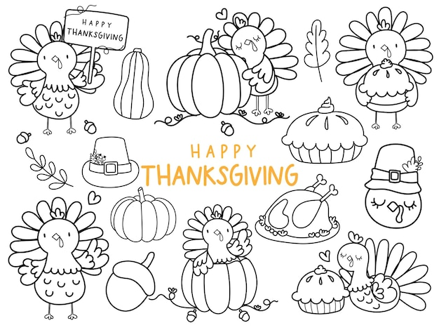 Thanksgiving doodle thanksgiving coloring page