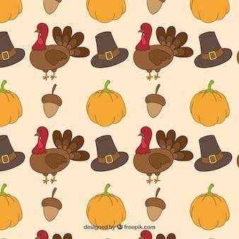 Thanksgiving drawn pattern