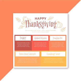 Thanksgiving facebook post template