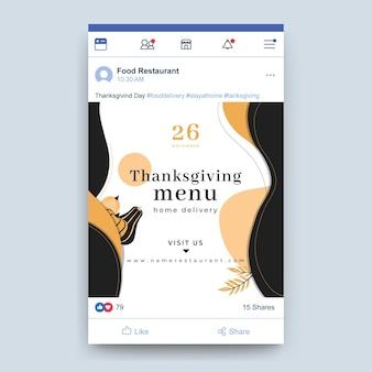 Post di facebook del ringraziamento
