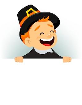 カナダ人男性との感謝祭グリーティングカード
