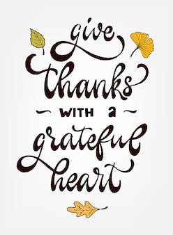Thanksgiving hand lettering quote