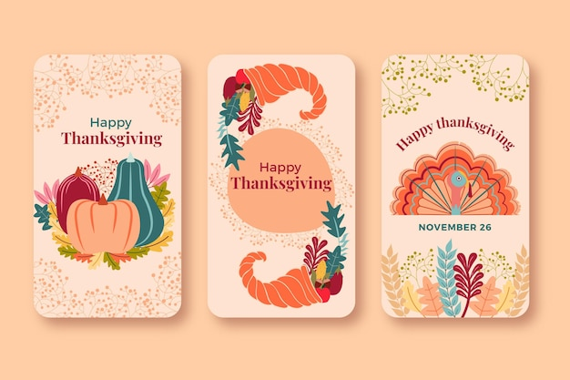 Thanksgiving instagram stories pack