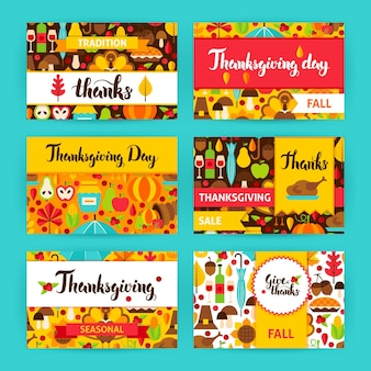 Thanksgiving label set.  vector illustration of fall holiday concept. printable badge design.