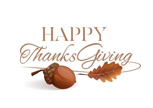 Thanksgiving lettering design. happy thanksgiving.