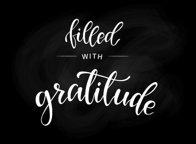 Thanksgiving lettering quote