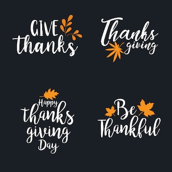 Thanksgiving Logo Collection
