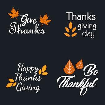 Коллекция логотипа thanksgiving