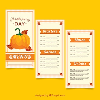 Thanksgiving menu in vintage style