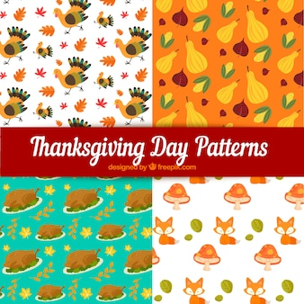 感謝祭のパターンが設定されて