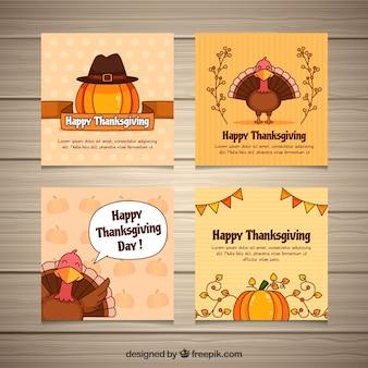 Thanksgiving retro cards