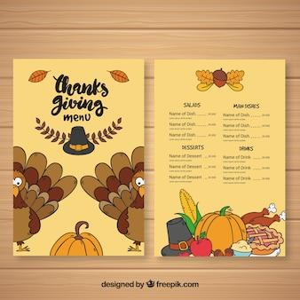 Thanksgiving retro menu