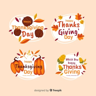 Thanksgiving theme for badge collection