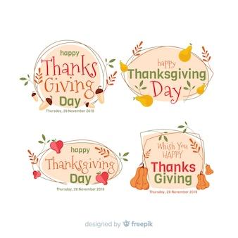 Тема благодарения для коллекции этикеток