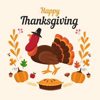 Thanksgiving turkey background design