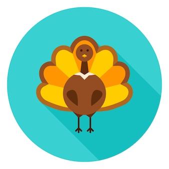 Значок круга благодарения турции. векторные иллюстрации. осенний сезонный праздник.