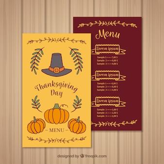 Thanksgiving vintage menu
