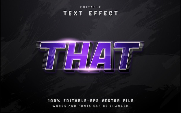 That text, purple gradient text effect