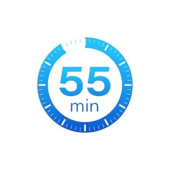 55 минут, значок секундомера вектор