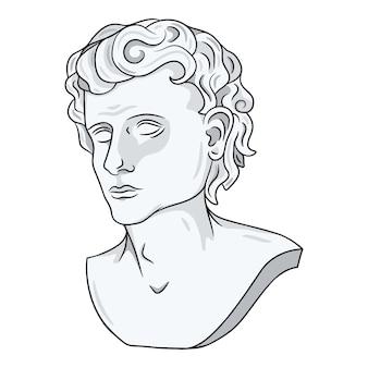 Абстрактная голова античной статуи изолированы