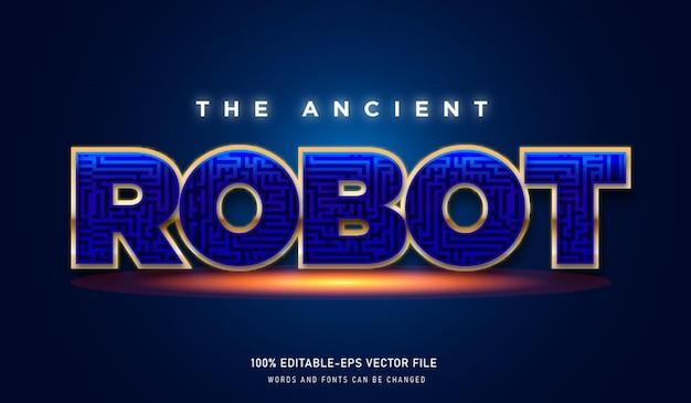Текстовый эффект древнего робота и редактируемый шрифт