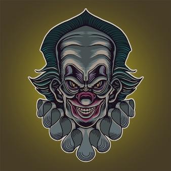 Злая голова клоуна