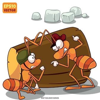 蟻は砂糖を盗んでいる。