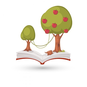 リンゴの木の本