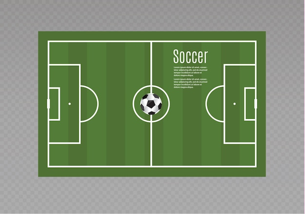 ボールはサッカーの試合の芝生の上にあります