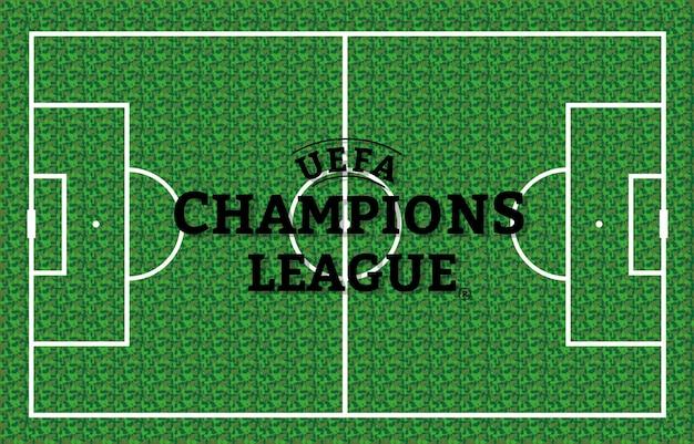 ボールは草の上にあります。サッカーの試合