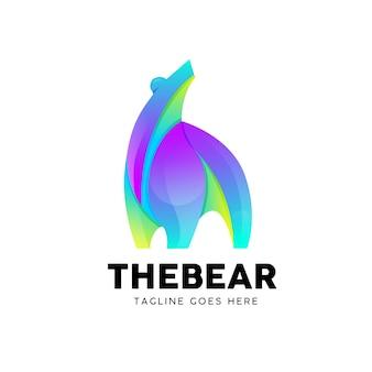 クマのグラデーション