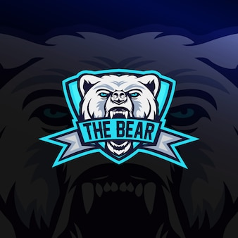 Логотип медведя e sport
