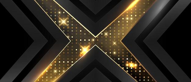 Красота золотисто-черного плаката на абстрактном фоне с премиальной динамикой vip.
