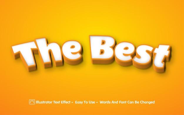 The best - стиль редактируемого текстового эффекта