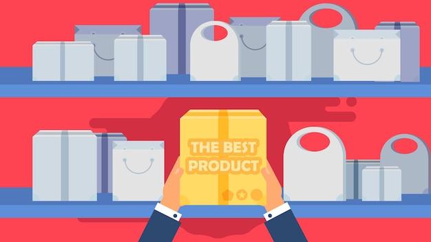 ショッピングバッグ、ボックス、パッケージからショップコンセプトの最高の製品。