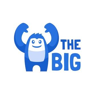 大きな生き物イエティのロゴデザイン