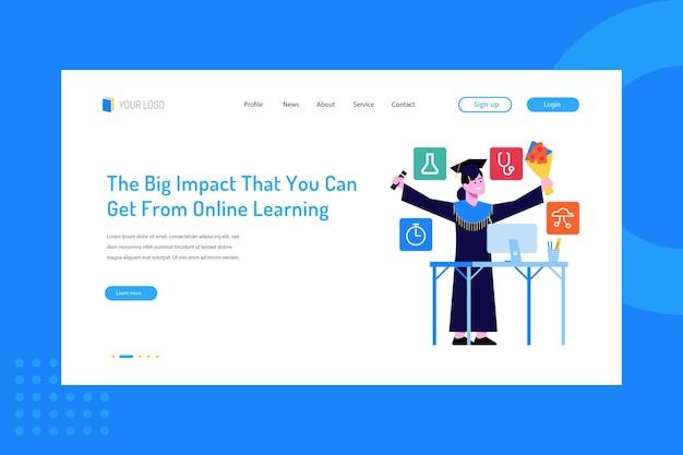 Большое влияние, которое вы можете получить от онлайн-обучения на целевой странице