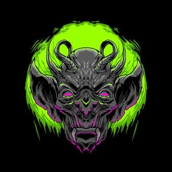 Иллюстрация черного демона