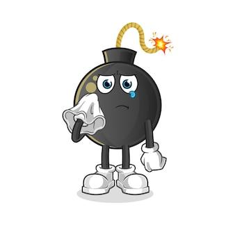 爆弾はティッシュで泣きます。漫画のマスコット
