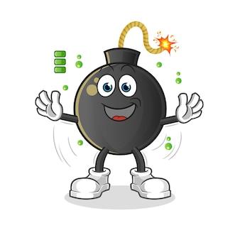 爆弾のフルバッテリー。漫画のマスコット
