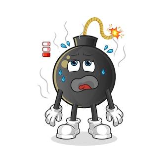 爆弾ローバッテリーマスコット。漫画