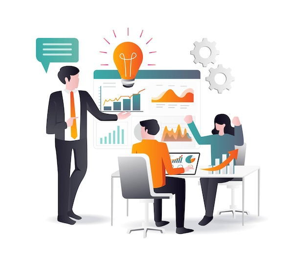 Босс мотивирует дух инвестиционного бизнеса