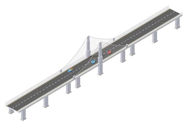 都市インフラの橋は等尺性です
